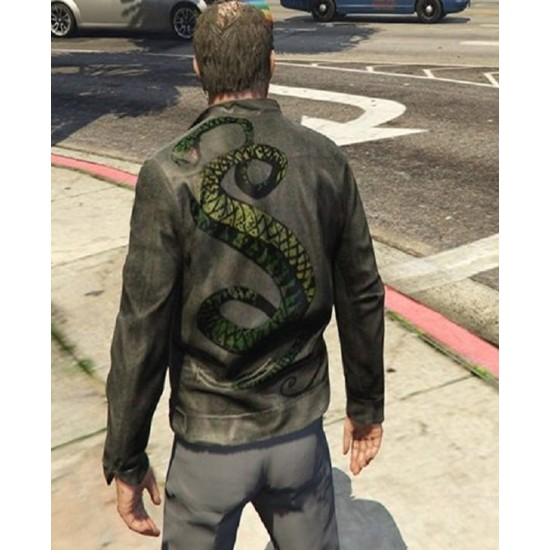 Fallout 3 Snakes Leather Jacket