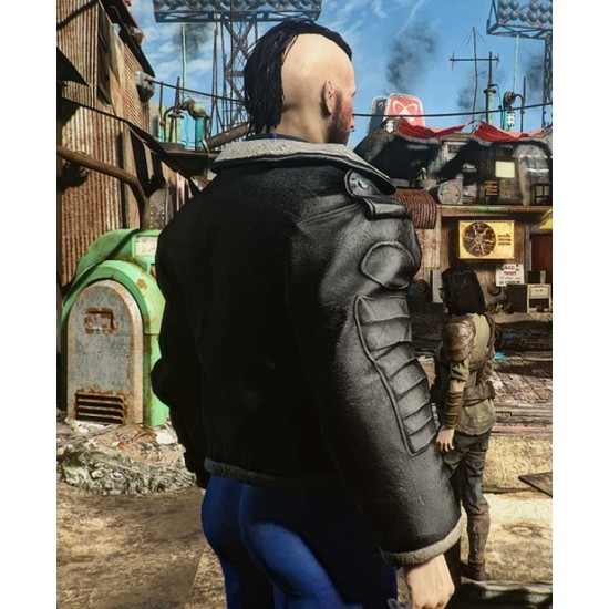 Fallout 4 Distressed Leather Bomber Jacket
