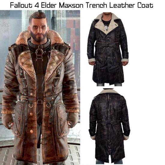 Fallout 4 Elder Maxson Battlecoat with Fur Collar