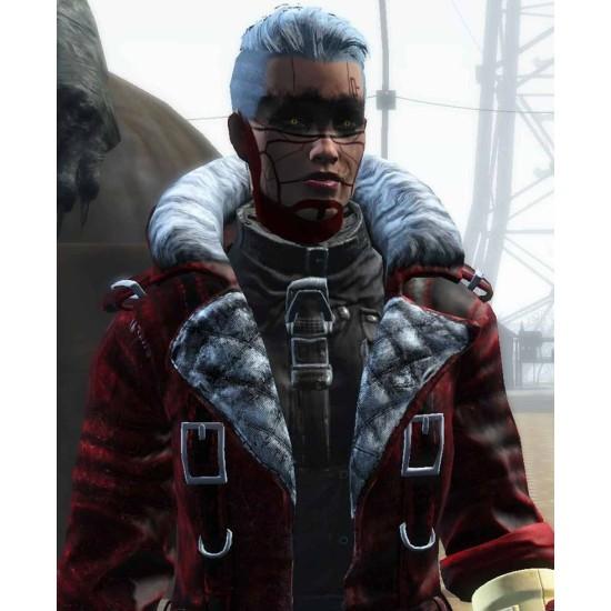 Fallout 4 Nuka Raider Red Leather Coat