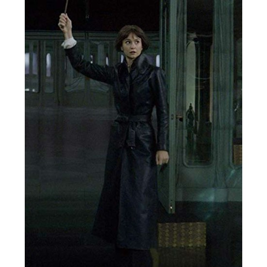 Fantastic Beasts 2 Tina Goldstein Trench Leather Coat