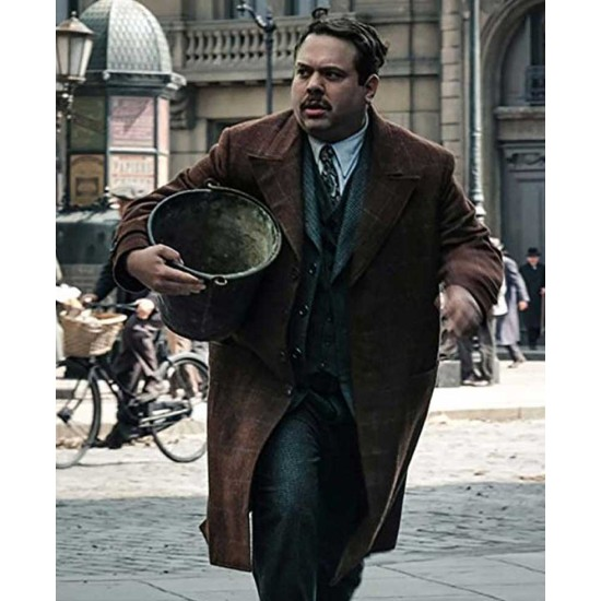 Fantastic Beasts 2 Dan Fogler Brown Coat