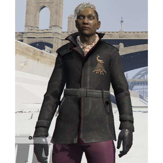 Pagan Min Far Cry 4 Belted Leather Coat