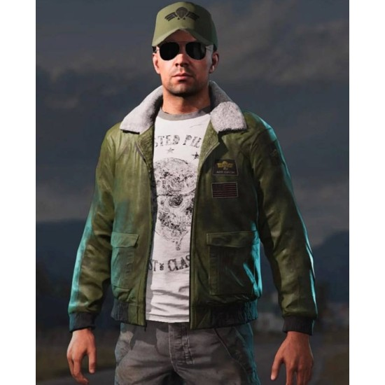 Far Cry 5 Mayday Green Leather Jacket