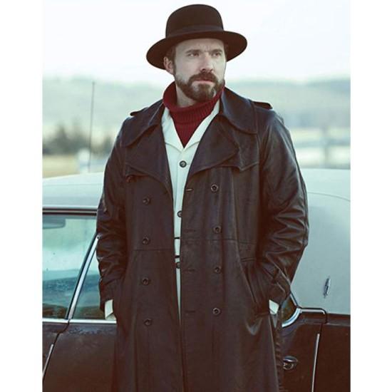 Fargo Brad Mann Black Leather Coat