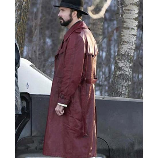 Fargo S02 Brad Mann Burgundy Leather Coat