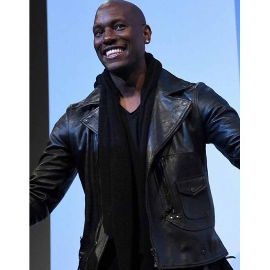 Fast 8 Premiere Tyrese Gibson Leather Jacket