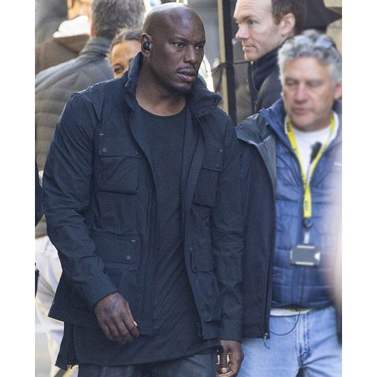Fast and Furious 9 Tyrese Gibson Black Cotton Jacket