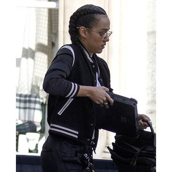 Fast & Furious 9 Nathalie Emmanuel Bomber Black Jacket