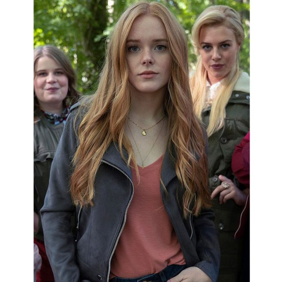 Fate The Winx Saga Abigail Cowen Suede Jacket