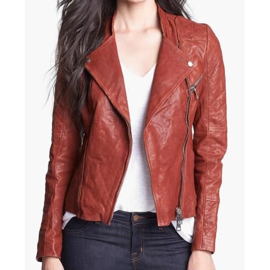 Dakota Johnson Fifty Shades of Grey Brown Leather Jacket