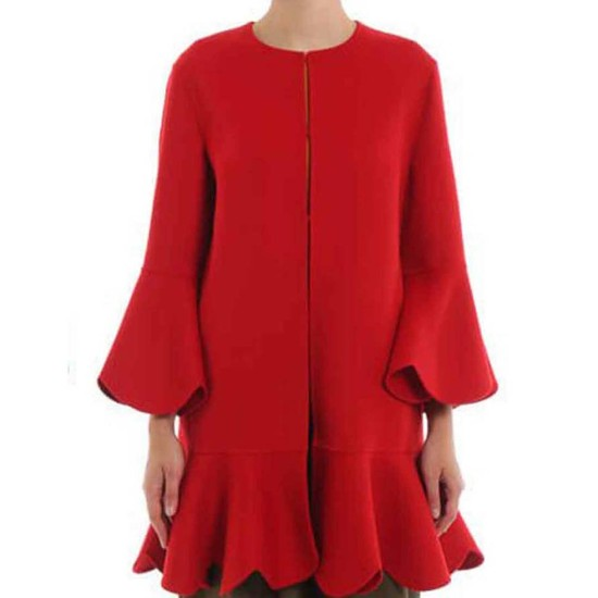 Filthy Rich Kim Cattrall Wool Coat