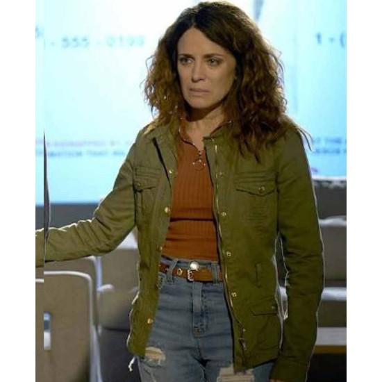 Alanna Ubach Filthy Rich Green Jacket