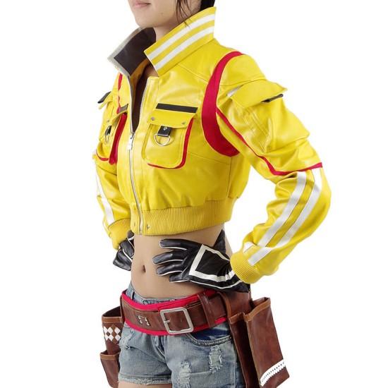 Final Fantasy XV Cindy Hammer Head Yellow Leather Jacket