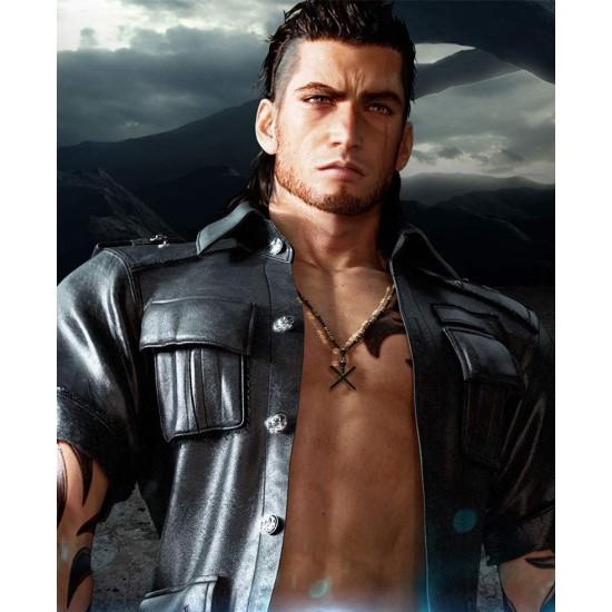 Final Fantasy 15 Game Gladiolus Amicitia Leather Jacket