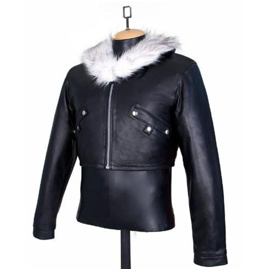 Final Fantasy 8 Squall Leonhart Fur Leather Jacket