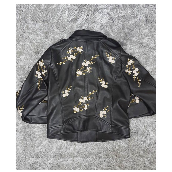 Find Me in Paris Jessica Lord Cropped Leather Jacket