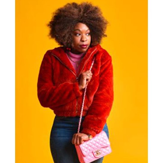Dominique Moore Finding Alice Red Jacket