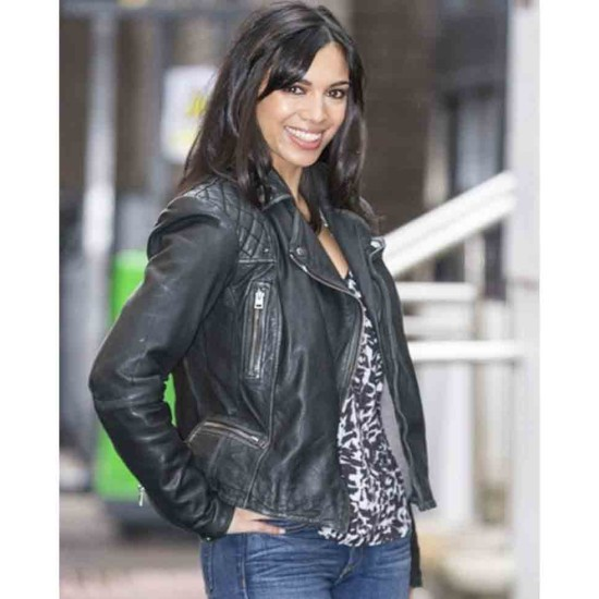 Fiona Wade ITV Studios Leather Jacket