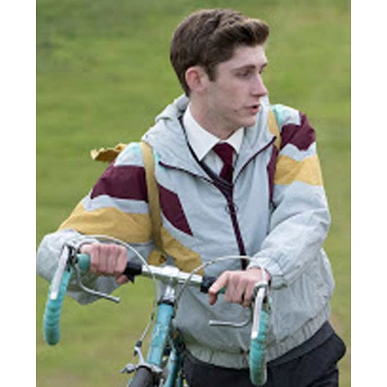 Fionn O'Shea Dating Amber Bomber Style Jacket