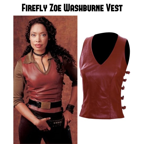 Firefly Zoe Washburne Leather Vest