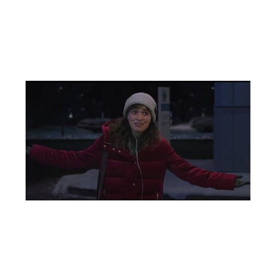 Five Feet Apart Haley Lu Richardson Red Puffer Jacket