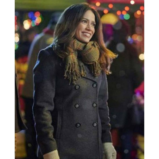 Bethany Joy Lenz Five Star Christmas Wool Peacoat