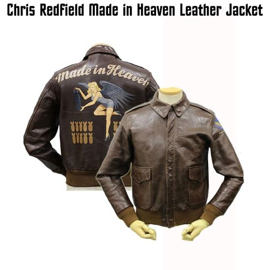 Chris Redfield Air Force Flight Bomber Jacket