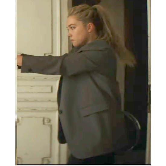 Florence Pugh Black Widow Grey Blazer