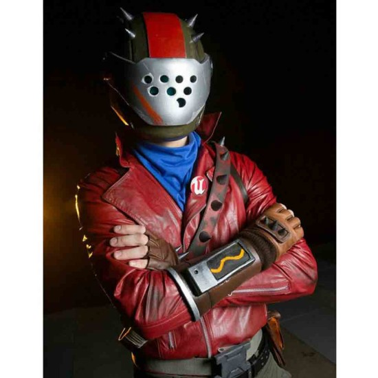Fortnite Rust Lord Red Leather Jacket