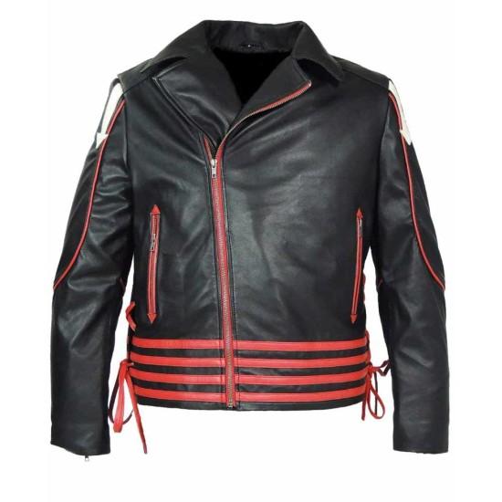 Freddie Mercury Concert Black Leather Jacket