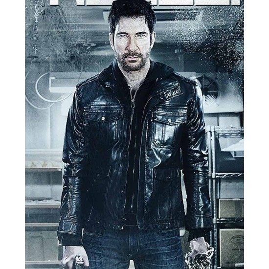 Dylan Mcdermott Freezer Leather Jacket with Hoodie