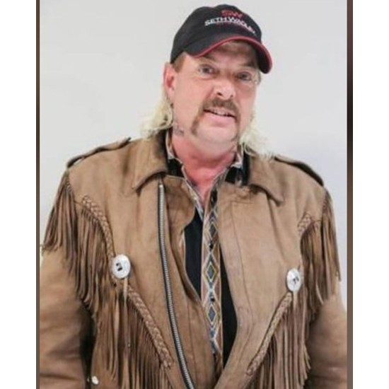 Joe Exotic Tiger King Brown Leather Jacket