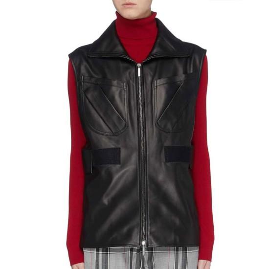 Gabrielle Union L.A.'s Finest Leather Vest
