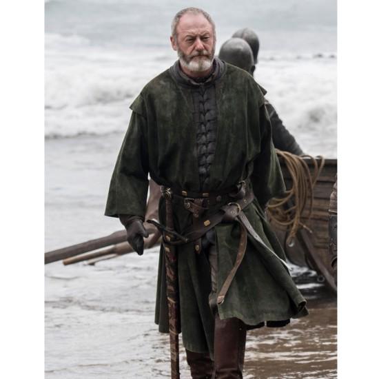Game of Thrones Liam Cunningham Suede Green Coat