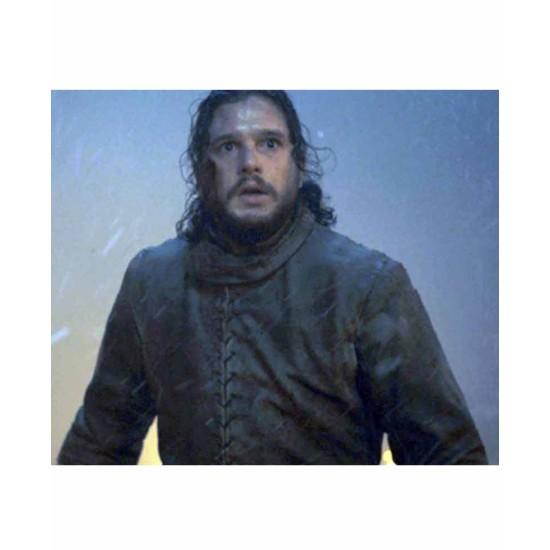 Game of Thrones Winterfell Jon Snow Leather Coat