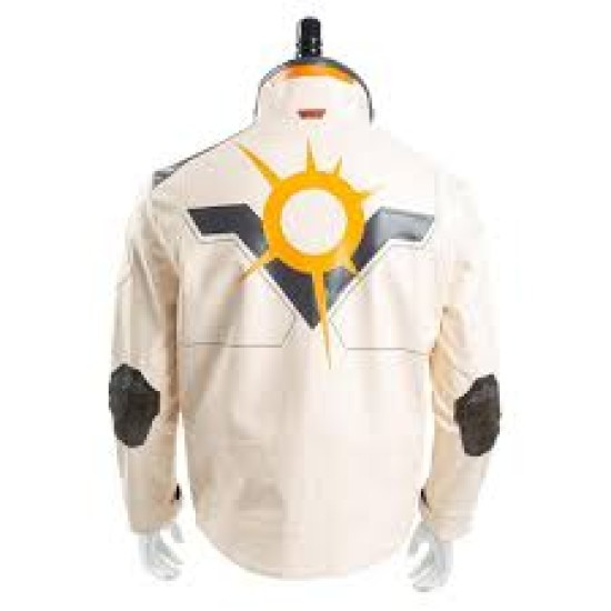 Valorant Phoenix White Leather Jacket