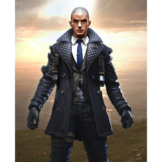 Garena Free Fire Rafael Quilted Leather Coat