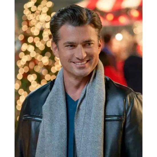 A Nashville Christmas Carol Wes Brown Zipper Pockets Leather Jacket