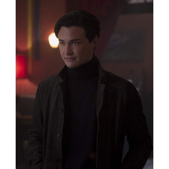 Gavin Leatherwood Chilling Adventures of Sabrina Leather Coat
