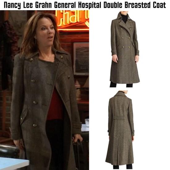 General Hospital Nancy Lee Grahn Grey Wool Coat