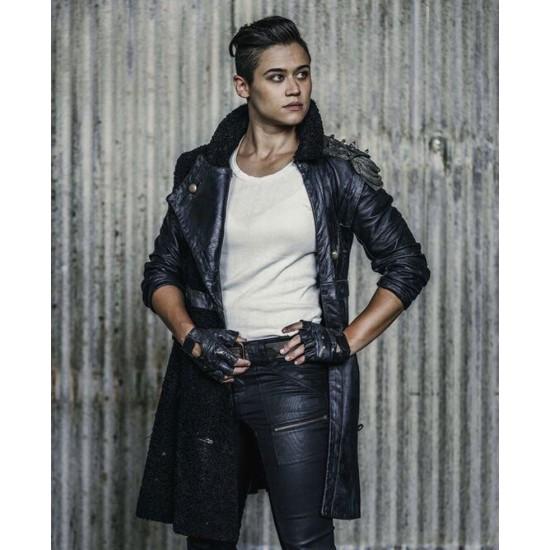 Z Nation Katy M O'Brian Leather Coat