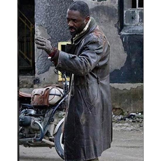 Ghost Rider Idris Elba Brown Leather Coat
