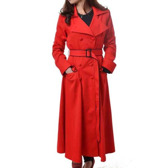 Gina Rodriguez Carmen Sandiego Red Trench Coat