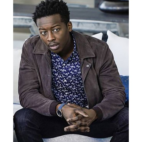 God Friended Me Brandon Micheal Hall Suede Jacket