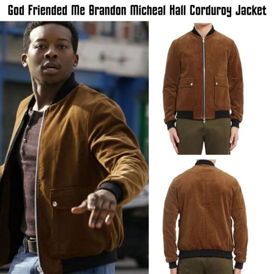 God Friended Me Brandon Micheal Hall Corduroy Jacket
