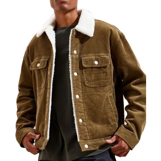 God Friended Me Suraj Sharma Corduroy Brown Jacket
