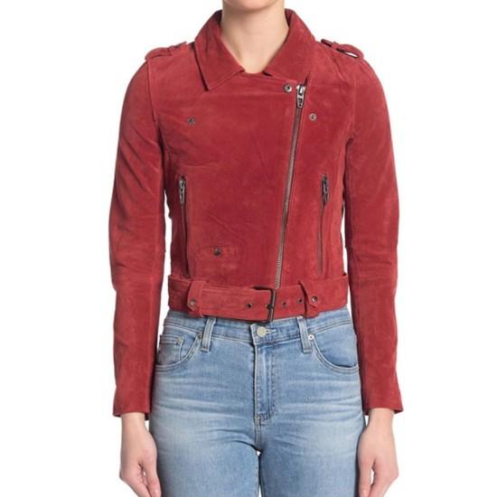 God Friended Me Violett Beane Biker Red Jacket