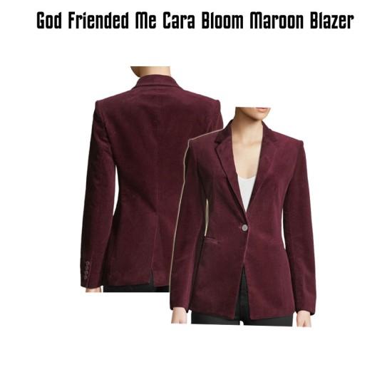 God Friended Me Violett Beane Maroon Blazer