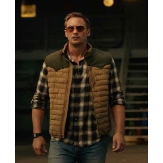 Alexander Skarsgard Godzilla Vs Kong Brown Vest